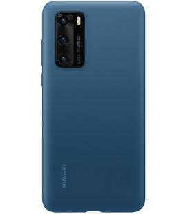 """Originalus mėlynas dėklas Huawei P40 telefonui """"Silicone Cover"""""""