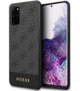 "Pilkas dėklas Samsung Galaxy S20 Plus telefonui ""GUHCS67G4GLGR Guess 4G Stripe Cover"""