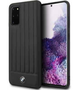 "Juodas dėklas Samsung Galaxy S20 Plus telefonui ""BMHCS67POCBK BMW Leather Lines Cover"""