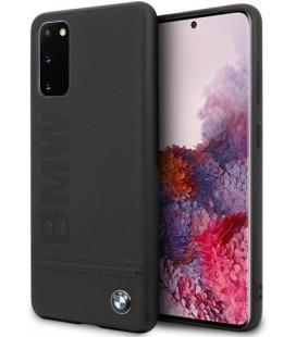 "Juodas dėklas Samsung Galaxy S20 telefonui ""BMHCS62LLSB BMW Imprint Logo Cover"""