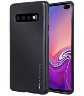 """Juodas silikoninis dėklas Samsung Galaxy S10 Plus telefonui """"Mercury iJelly Case Metal"""""""