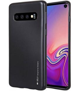 """Juodas silikoninis dėklas Samsung Galaxy S10 telefonui """"Mercury iJelly Case Metal"""""""