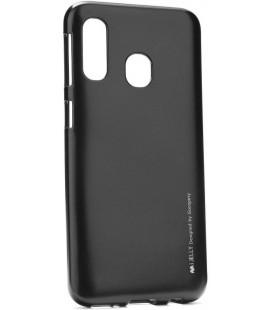 """Juodas silikoninis dėklas Samsung Galaxy A40 telefonui """"Mercury iJelly Case Metal"""""""