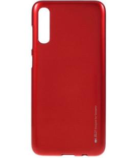"""Raudonas silikoninis dėklas Samsung Galaxy A70 telefonui """"Mercury iJelly Case Metal"""""""