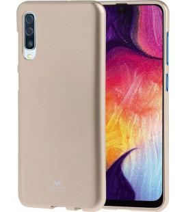 """Auksinės spalvos silikoninis dėklas Samsung Galaxy A70 telefonui """"Mercury Goospery Pearl Jelly Case"""""""