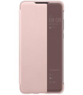 """Originalus rožinis atverčiamas dėklas Huawei P30 Lite telefonui """"S-View Case"""""""