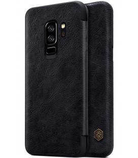 """Odinis juodas atverčiamas dėklas Samsung Galaxy S9 Plus telefonui """"Nillkin Qin"""""""