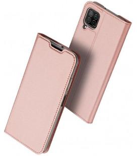 """Rausvai auksinės spalvos atverčiamas dėklas Huawei P40 Lite telefonui """"Dux Ducis Skin Pro"""""""