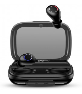 """Juodos belaidės Digital Display Stereo ausinės """"USAMS YJ Wireless 5.0"""""""