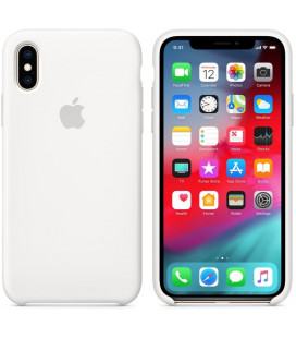 "Originalus baltas dėklas ""Silicone Cover"" Apple iPhone X/XS telefonui ""MRW82ZM/A"""