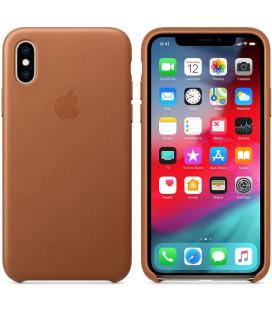 "Originalus rudas dėklas ""Leather Cover"" Apple iPhone X/XS telefonui ""MRWP2ZM/A"""