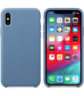"Originalus šviesiai mėlynas dėklas ""Leather Cover"" Apple iPhone X/XS telefonui ""MVFP2ZM/A"""
