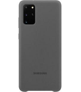 """Originalus pilkas dėklas """"Silicone Cover"""" Samsung Galaxy S20 Plus telefonui """"EF-PG985TJE"""""""