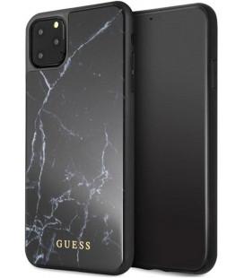 "Juodas dėklas Apple iPhone 11 Pro Max telefonui ""GUHCN65HYMABK Guess Marble Cover"""