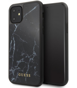 "Juodas dėklas Apple iPhone 11 telefonui ""GUHCN61HYMABK Guess Marble Cover"""