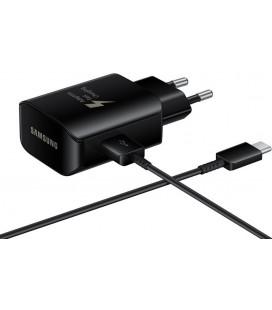 """Originalus Samsung juodas pakrovėjas Fast Charge (25W) + USB - Type C Laidas """"EP-TA300CBE"""""""