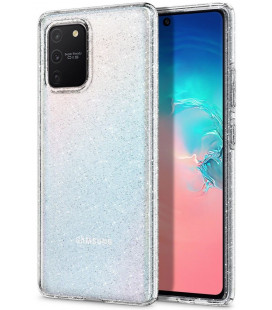 "Skaidrus dėklas su blizgučiais Samsung Galaxy S10 Lite telefonui ""Spigen Liquid Crystal Glitter"""