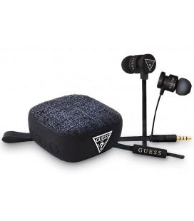 "Juodos 3.5mm ausinės + Belaidis garsiakalbis ""GUBPERSPBK Guess"""