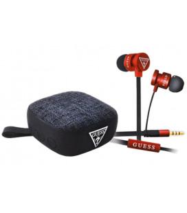 """Raudonos 3.5mm ausinės + Belaidis garsiakalbis """"GUBPERSPRE Guess"""""""