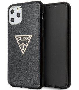 "Juodas dėklas Apple iPhone 11 Pro telefonui ""GUHCN58SGTLBK Guess Solid Glitter Cover"""