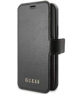 """Juodas atverčiamas dėklas Apple iPhone 11 Pro telefonui """"GUFLBKSN58IGLBK Guess Iridescent Book Case"""""""