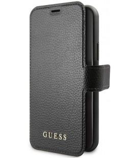 """Juodas atverčiamas dėklas Apple iPhone 11 telefonui """"GUFLBKSN61IGLBK Guess Iridescent Book Case"""""""