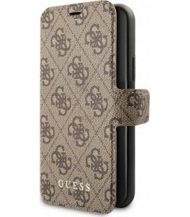 """Rudas atverčiamas dėklas Apple iPhone 11 Pro telefonui """"GUFLBKSN584GB Guess 4G Book Case"""""""