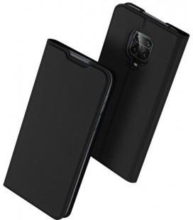 """Juodas atverčiamas dėklas Xiaomi Redmi Note 9S/9 Pro/9 Pro Max telefonui """"Dux Ducis Skin Pro"""""""