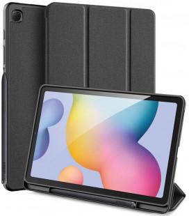 """Juodas atverčiamas dėklas Samsung GALAXY TAB S6 Lite 10.4 P610/P615 planšetei """"Dux Ducis Domo"""""""
