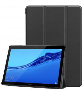 """Juodas atverčiamas dėklas Huawei Mediapad M5 Lite 10.1 planšetei """"Tech-Protect Smartcase"""""""