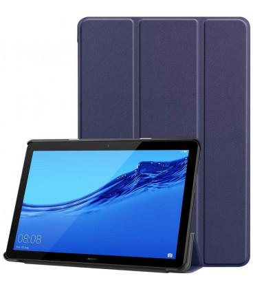 """Mėlynas atverčiamas dėklas Huawei Mediapad M5 Lite 10.1 planšetei """"Tech-Protect Smartcase"""""""