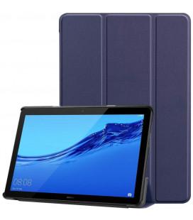 """Mėlynas atverčiamas dėklas Huawei Mediapad T5 10.1 planšetei """"Tech-Protect Smartcase"""""""