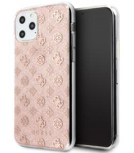 "Rožinis dėklas Apple iPhone 11 Pro telefonui ""GUHCN58TPERG Guess 4G Peony Glitter Cover"""