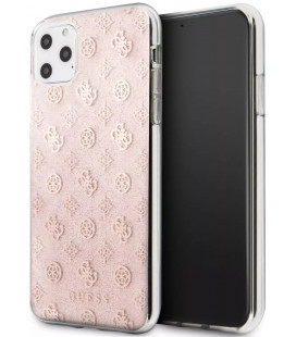 "Rožinis dėklas Apple iPhone 11 Pro Max telefonui ""GUHCN65TPERG Guess 4G Peony Glitter Cover"""