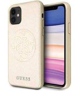 """Auksinės spalvos dėklas Apple iPhone 11 telefonui """"GUHCN61RSSASGO Guess Saffiano Cover"""""""