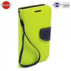 """Žalias atverčiamas dėklas SONY Xperia M4 Aqua telefonui """"Telone Fancy"""""""