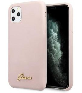 "Rožinis dėklas Apple iPhone 11 Pro telefonui ""GUHCN58LSLMGLP Guess Silicone Vintage Cover"""