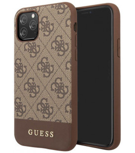 "Rudas dėklas Apple iPhone 11 Pro Max telefonui ""GUHCN65G4GLBR Guess 4G Stripe Cover"""