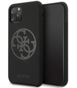 "Juodas dėklas Apple iPhone 11 Pro telefonui ""GUHCN58LS4GBK Guess 4G Silicone Tone Cover"""
