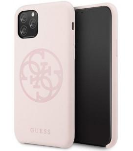 "Šviesiai rožinis dėklas Apple iPhone 11 Pro Max telefonui ""GUHCN65LS4GLP Guess 4G Silicone Tone Cover"""