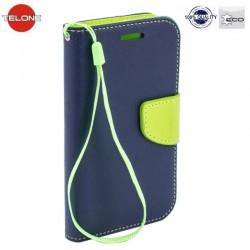 "Mėlynas atverčiamas dėklas SONY Xperia M4 Aqua telefonui ""Telone Fancy"""