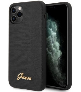 "Juodas dėklas Apple iPhone 11 Pro Max telefonui ""GUHCN65PCUMLLIBK Guess Lizard Cover"""