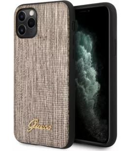 """Auksinės spalvos dėklas Apple iPhone 11 Pro Max telefonui """"GUHCN65PCUMLLIGO Guess Lizard Cover"""""""