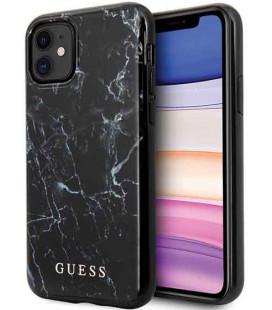 "Juodas dėklas Apple iPhone 11 telefonui ""GUHCN61PCUMABK Guess Marble Design Cover"""