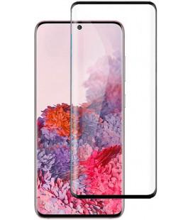 """5D Lenktas juodas apsauginis grūdintas stiklas Samsung Galaxy S20 telefonui """"Full Glue"""""""