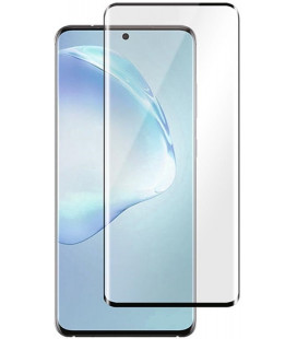 """5D Lenktas juodas apsauginis grūdintas stiklas Samsung Galaxy S20 Plus telefonui """"Full Glue"""""""