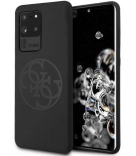 "Juodas dėklas Samsung Galaxy S20 Ultra telefonui ""GUHCS69LS4GBK Guess 4G Tone Logo Cover"""