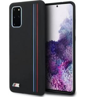"""Juodas dėklas Samsung Galaxy S20 Plus telefonui """"BMHCS67SIVTBK BMW Silicone Cover"""""""