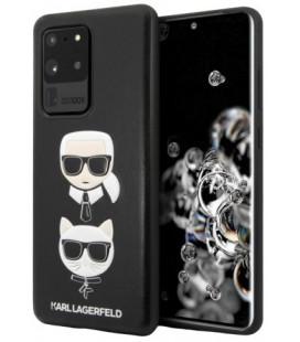 "Juodas dėklas Samsung Galaxy S20 Ultra telefonui ""KLHCS69KICKC Karl Lagerfeld & Choupette Head Cover"