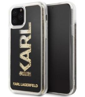 """Auksinės spalvos dėklas Apple iPhone 11 Pro telefonui """"KLHCN58KAGBK Karl Lagerfeld TPU Glitter Cover"""""""